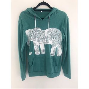 Green Elephant Hoodie